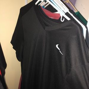 Men's Nike Black Vneck